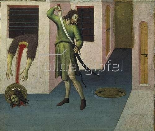 Sano di Pietro: Die Enthauptung Johannes' des Täufers.