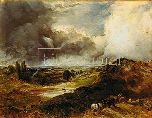 John Constable: Hampstead Heath mit Branch Hill Pond.
