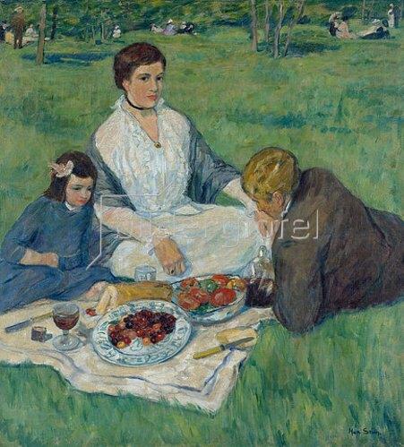 Max Stern: Picknick am Ananasberg in Düsseldorf. Undatiert