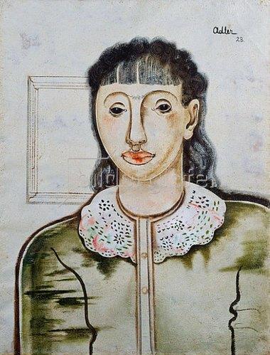 Jankel Adler: Weibliches Bildnis. 1928