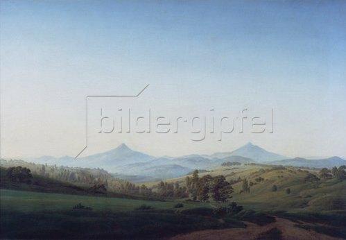Caspar David Friedrich: Böhmische Landschaft mit dem Mille- schauer.