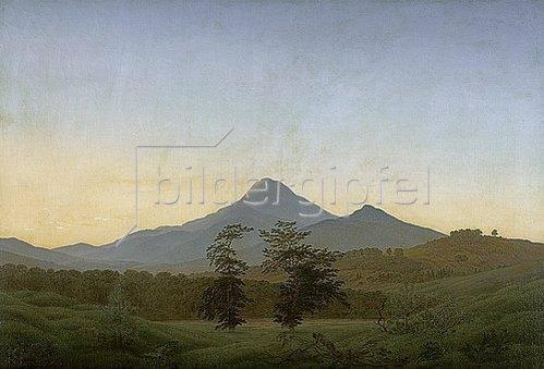 Caspar David Friedrich: Böhmische Landschaft. Um 1808