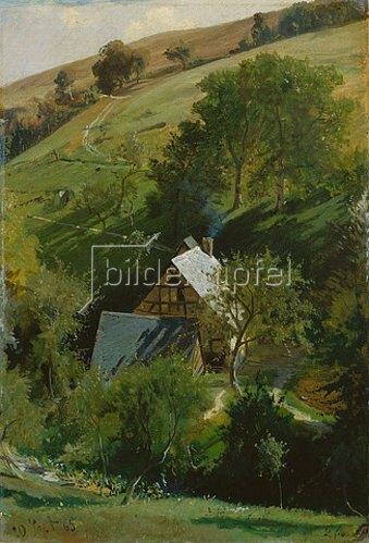 Ludwig Hugo Becker: Berghang. 1865