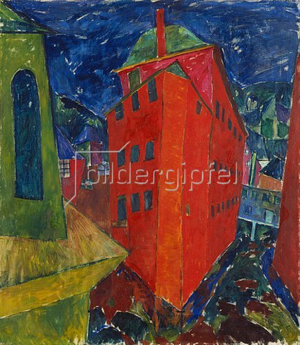 Walter Ophey: Rotes Haus in Monschau. 1921