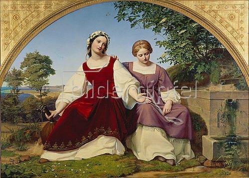Eduard Bendemann: Die zwei Mädchen am Brunnen. 1833