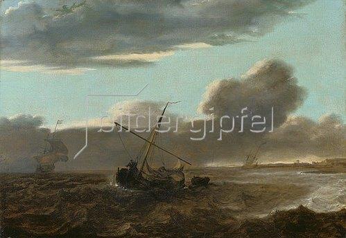 Jan Theunisz (gen.Jan Maet) Blanckerhoff: Schiffe auf stürmischer See.