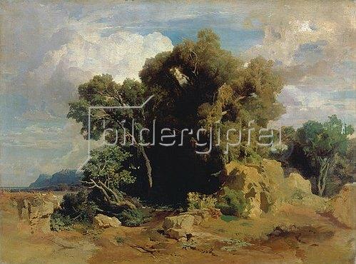Arnold Böcklin: Landschaft aus den pontinischen Sümpfen (unvollendet). 1851