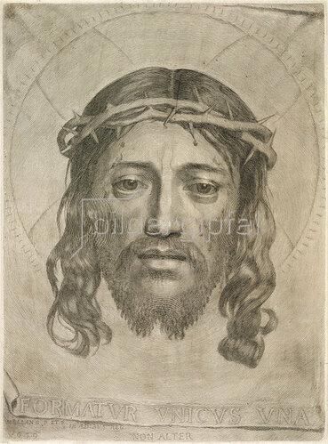 Claude Mellan: Das Antlitz Christi.