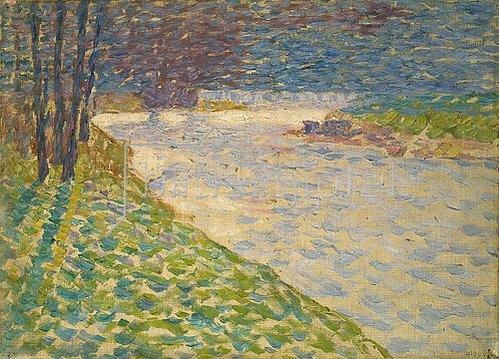 Walter Ophey: Morgensonne an der Ruhr. 1910
