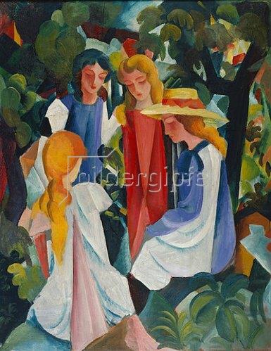 August Macke: Vier Mädchen. 1913