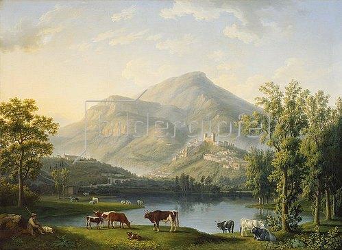 Jacob Philipp Hackert: Veduta d'Itri (Landschaft mit Blick auf Itri). 1788
