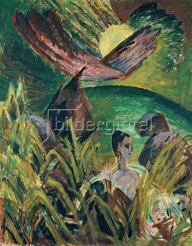 Ernst Ludwig Kirchner: Mondaufgang auf Fehmarn. 1914