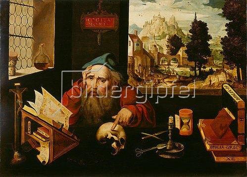 Joos van Cleve: Der heilige Hieronymus im Gehäus. Um 1520-1525
