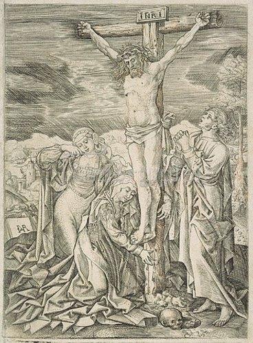 Jan van Rillaer: Kreuzigung (Christus am Kreuz die beiden Marien und Johannes).