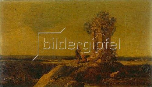 Allaert van Everdingen: Landschaft mit Gnadenkapelle. 1643