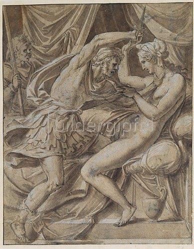 Luca Penni: Lukretia und Tarquinius.