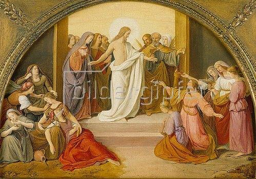 Friedrich Wilhelm von Schadow: Das Gleichnis von den klugen und törichten Jungfrauen (Farbskizze). 1836-1837