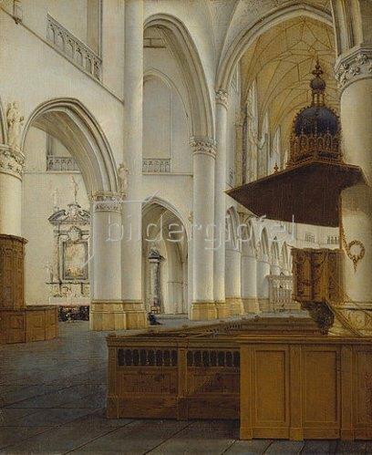 Isaak van Nickelen: Interieur einer gotischen Kirche. Nach 1680