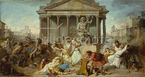 Pierre Subleyras: Judas Makkabäus zerstört den Altar und die Statue des Jupiter. Um 1735