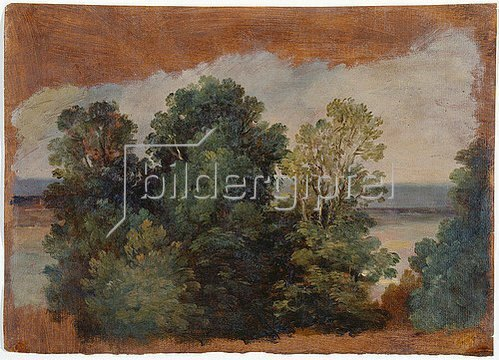 Giuseppe Passeri: Bäume am Wasser (Studie).