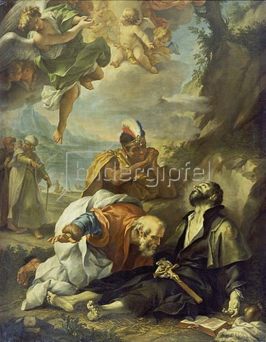 Lodovico Mazzanti: Der Tod des hl. Franz Xaver. 1730/1740