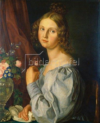 Carl Peter Eckhardt: Bildnis einer jungen Frau. 1831