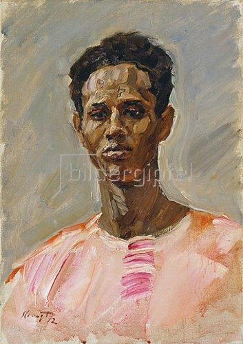 Max Slevogt: Brustbildnis des Somali Hassanó. 1912