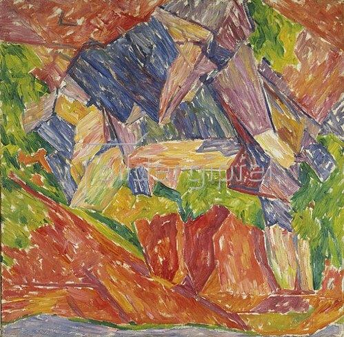 Walter Ophey: Farbige Steine. 1913