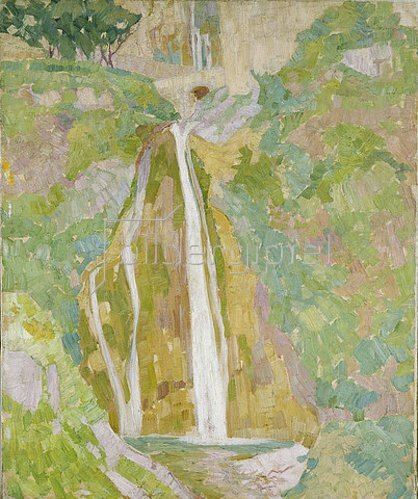 Walter Ophey: Wasserfall bei Positano. 1910