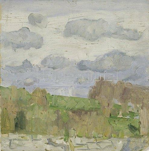 Walter Ophey: Landschaft. Um 1905