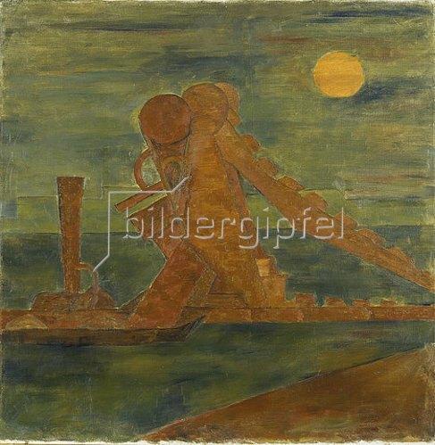 Walter Ophey: Bagger im Mondschein. Um 1924