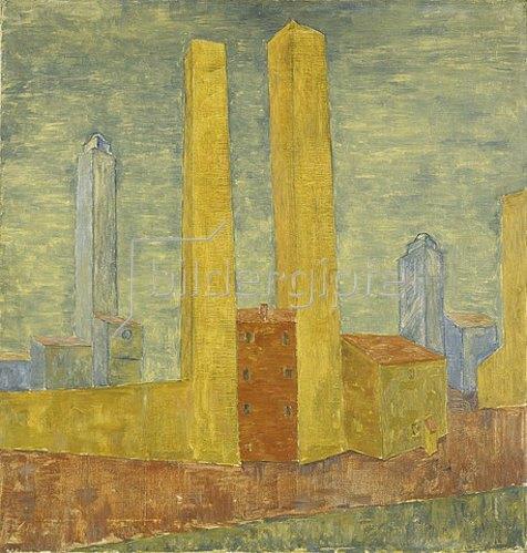 Walter Ophey: San Gimignano I. 1924