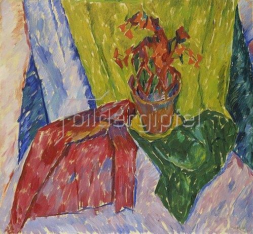Walter Ophey: Blumentopf mit rotem Blumen. Um 1913-14