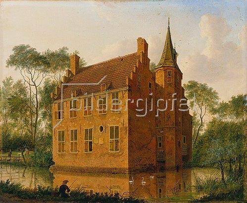 Jan ten Compe: Das Huis Altena bei Delft. Um 1747