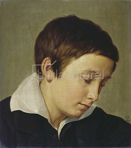 Johann Wilhelm Schirmer: Jugendbildnis des vorübergehend erblindeten Landschaftsmalers Wilhelm Klein. 1834.