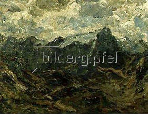 Fritz Baer: Hochgebirgslandschaft. Ca.1917.
