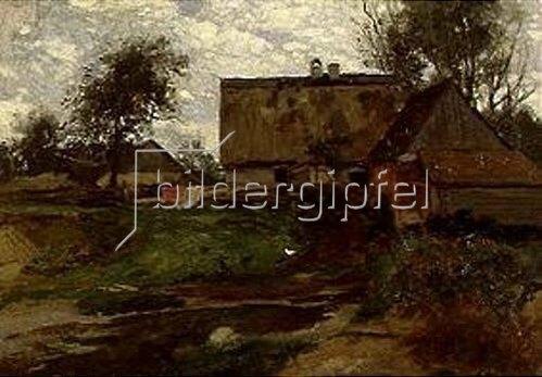 Otto Frölicher: Gehöft bei Fürstenfeldbruck. 1881.