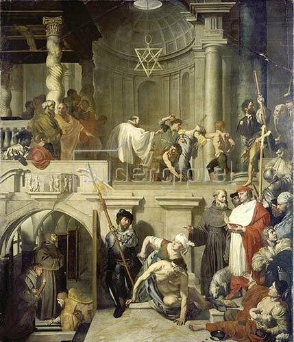 Gerard Douffet: Papst Nikolaus am Grabe des heiligen Franziskus.