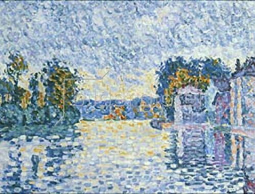 Paul Signac: Studie An der Seine. 1902 (?).