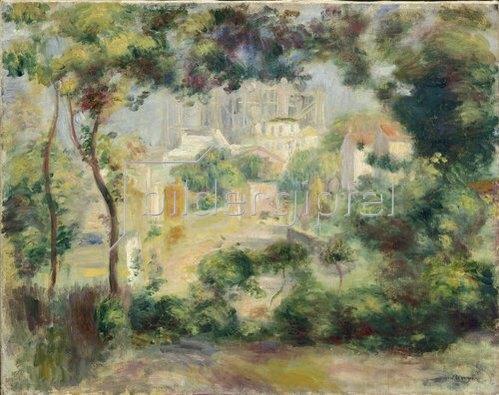 Auguste Renoir: Landschaft mit Ausblick auf den Neubau von Sacre-Coeur.  Um 1896.