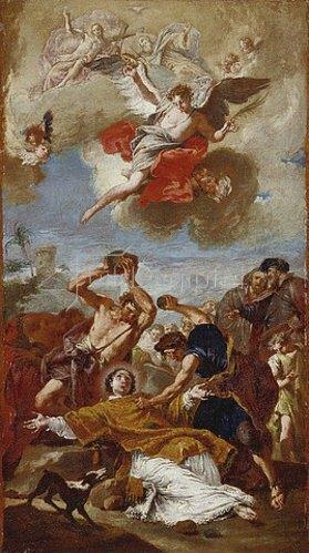 Giovanni Battista Pittoni: Steinigung des heiligen Stephanus. 1739