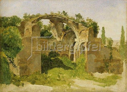 Johann Martin von Rohden: Villa Hadriana bei Tivoli (Frigidarium der großen Therme). 1840