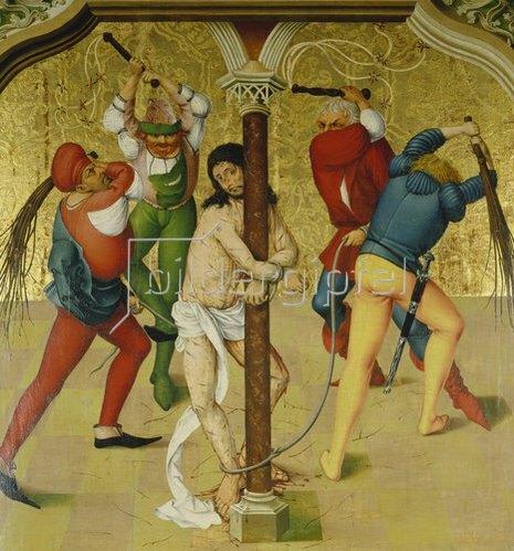 Rueland Frueauf d.Ä.: Passionsaltar: Christus an der Martersäule. Um 1470/80