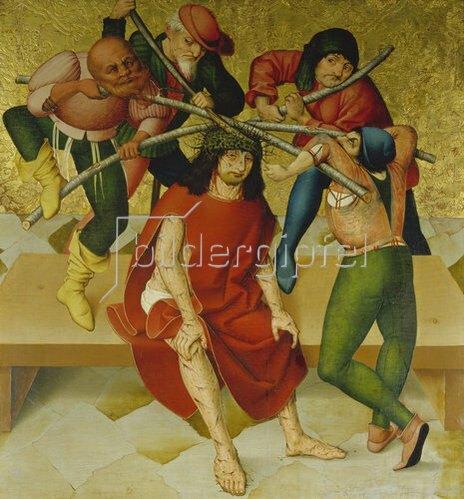 Rueland Frueauf d.Ä.: Passionsaltar: Dornenkrönung Christi. Um 1470/80