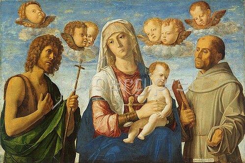 Cima da Conegliano: Madonna mit Kind und den Heiligen Johannes dem Täufer und Franziskus. Um 1495