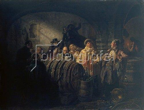 Johann Peter Hasenclever: Die Weinprobe. 1853