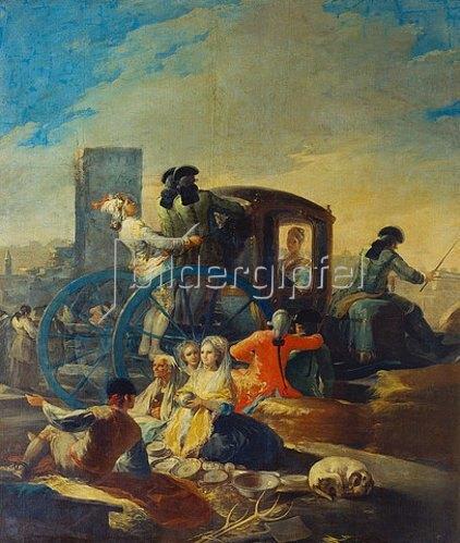 Francisco José de Goya: Der Geschirrhändler. 1779.