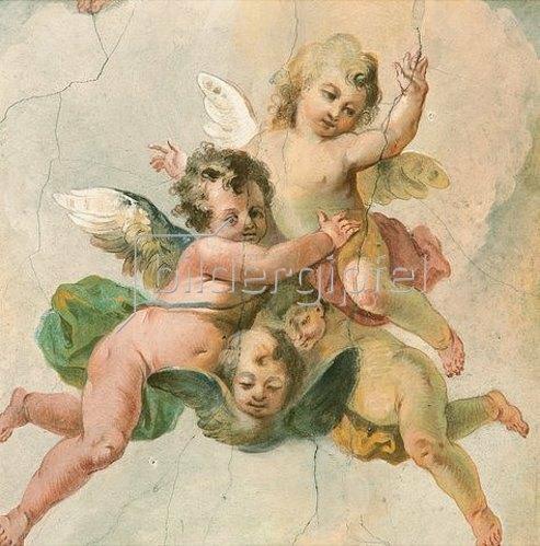 Johann Baptist Enderle: Putten (Detail aus einem Deckenfresco). 1755