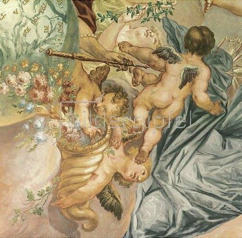 Joseph Anton Merz: Putten mit Blumen. 1727