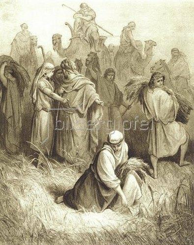 Gustave Doré: Ruth bei der Ährenlese auf den Feldern des Boas.